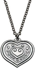 Kalevala, Euran sydän - riipus, hopea, 70cm