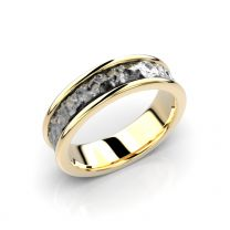 Festive, Peruskallio -sormus, 543-000, keltakulta mustalla rodinoinnilla