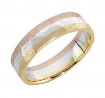Malmin Korupaja, Volcano Rainbow -sormus, 3 kultaa, 5mm