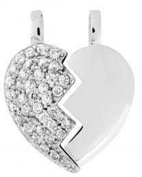 Malmin Korupaja, kaksiosainen sydänriipus, hopeaa