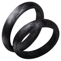 3D Carbon, Hiilikuitusormus, 4mm