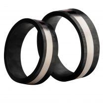 3D Carbon, Hiilikuitu-/titaanisormus, 7mm