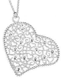 Paletti Jewelry - Filigraanisydän, hopeinen kaulakoru