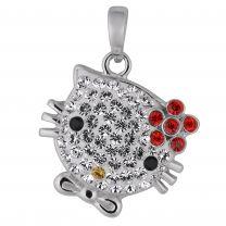 Malmin Korupaja, Kissa punaisella kukalla-riipus, hopea*