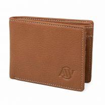 Aarni, Hirvennahkainen lompakko kolikkotaskulla, RFID, konjakki