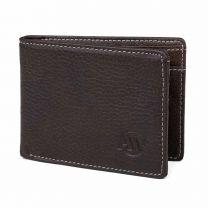 Aarni, Hirvennahkainen lompakko kolikkotaskulla, RFID, tummanruskea