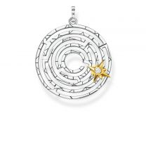 Thomas Sabo, Labyrinth with golden star- riipus, PE851-849-14