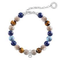 Thomas Sabo, Charm bracelet - Charm Bracelet Brown, Blue, X0228-953-7
